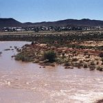 Zak River in flood